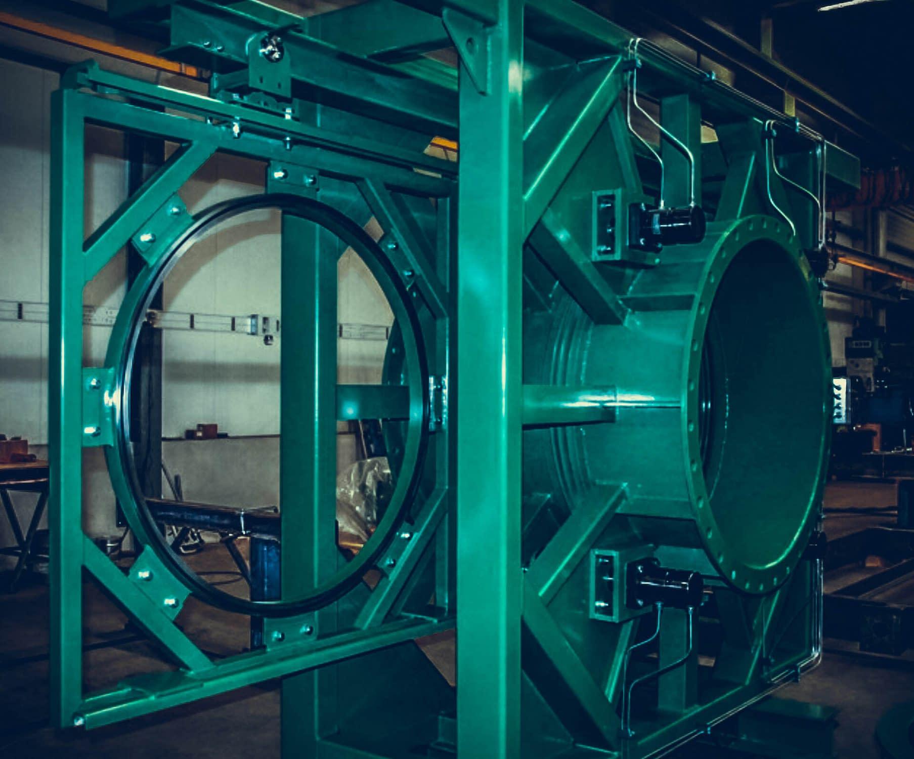 RBU Germany Prozessgasarmaturen Rauchgasarmaturen Brillenschieber