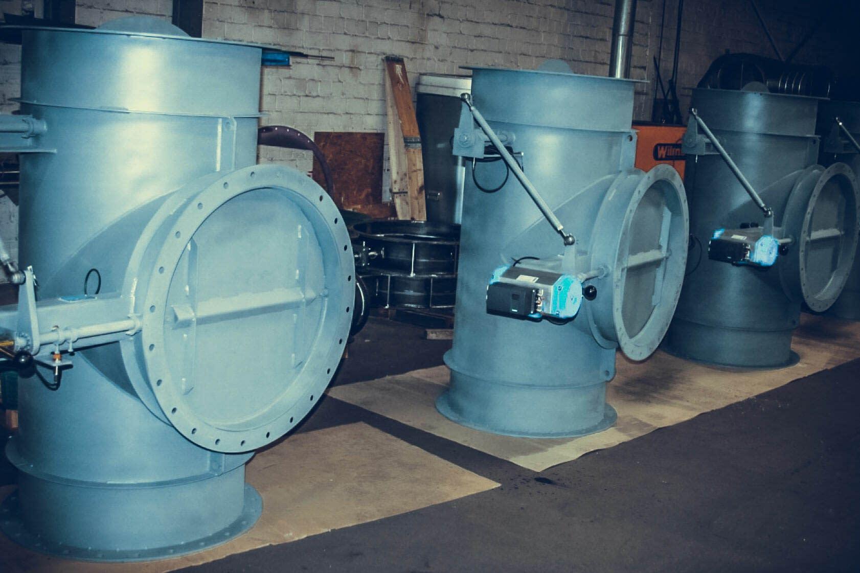 RBU Germany Prozessgasarmaturen Rauchgasarmaturen Rauchgasweiche